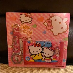 Set of  Hello Kitty: watch and wallet